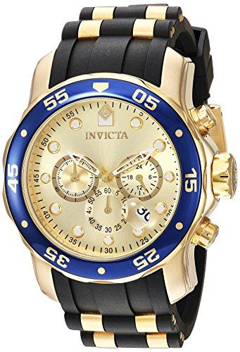Invicta Herren Chronograph Quarz Uhr mit Silikon Armband 17881