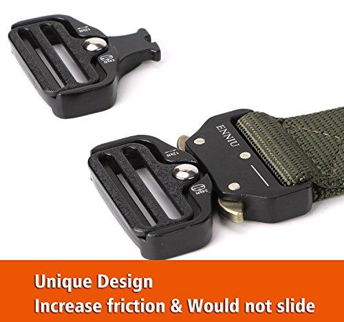 FEIKCOR Cinturón Táctico Cinturón Resistente para Hombres Cinturón Militar DE 1,5 '' Cinturones de Fijación Rápida… 10