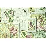Rollo de papel pintado para pared, diseño vintage de mapa del mundo, adhesivo, lavable