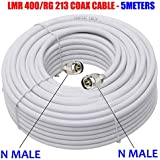 OXYWAVE® Low Loss Flexible LMR 400 RF Communications Coaxial Cable for Outdoor Usage (5 Meter or 16.4 Feet)
