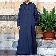 DAIDAICP Islamic Men Clothes Dress Robe Muslim Shirt Hoodies Robe Saudi Arab Long Sleeve Shirts Kaftan Long