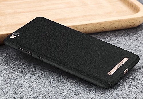 "Tapfond (TM) All Sides Protection ""360 Degree"" Sleek Quicksand Matte Hard Back Case Cover For XIAOMI MI REDMI 3S - Sandstone Black"