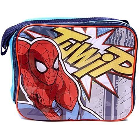 IMTD Disney-Borsa, motivo: supereroi Marvel: Spiderman-Borsa per il pranzo isolata, collezione Back to School
