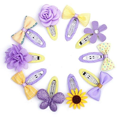 Belle Beau Wunderschöne Haarclips, Schleifen und Haarspangen für Babys und kleine Mädchen, hochwertiges Haarschmuck Set (B) (Bella B-geschenk-set)