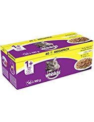 Whiskas One Plus Poultry Selection in Jelly Cat Food Pouches, 40 x 100 g