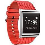 KOBWA Pulsera Actividad, Fitness Tracker con Monitor del Ritmo Cardíaco, Tensiometro, Monitor de Dormir, Podómetro.