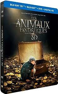 Les Animaux fantastiques - Edition limitée Steelbook - Le monde des Sorciers de J.K. Rowling - Blu-ray 3D [Combo Blu-ray 3D + Blu-ray + DVD - Édition boîtier SteelBook]