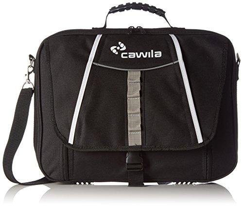 Cawila Trainertasche Trainer Briefcase inklusive Zubehör für Fußball, Schwarz, 31 x 43 x 4 cm, 1 Liter, 00491050