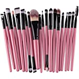 Welcomeuni 20pcs/set Makeup Brush Set Tools Make-up Toiletry Kit Wool Make Up Brush Set (black)