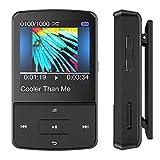 AGPTEK G15S Clip Bluetooth Lettore MP3 16 GB con Fascia da Braccio e Copertura in silicone , Schermo TFT 1,5 pollici con Radio FM, Colore Nero