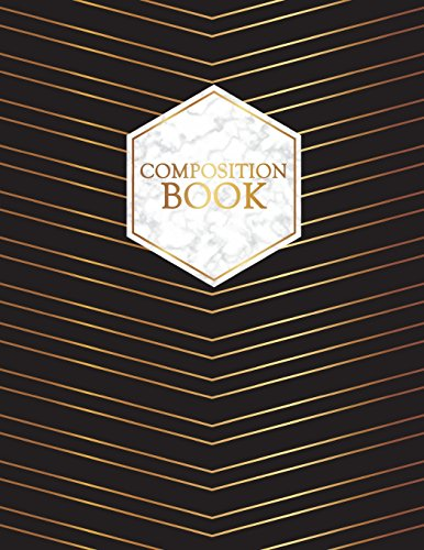 Composition Book: Gold Trendy Notebook   150-Page College-Ruled Journal   8.5 X 11 Softcover di Vanguard Notebooks