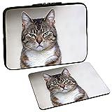 PEDEA Design Tablet PC Tasche 10,1 Zoll (25,6cm) mit Design Mauspad, Cat