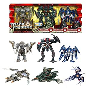 TRANSFORMERS - REVENGE OF THE FALLEN - PACK DE 3 FIGURINES : MEGATRON + THE FALLEN + SOUNDWAVE - 20 CM