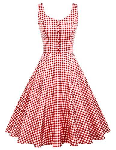 Frauen a Linie Kleid Baumwolle brautjungfernkleid für Hochzeit Swing Kleid Größe XL BP416-4 - Audrey Reißverschluss-etui