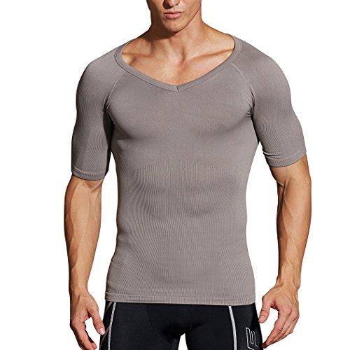 Crazy bigsave. Hoter® para Hombre Cuerpo de adelgazamiento Shaper chaleco/camisa ABS Abdomen Delgado, Precio/pieza (1# más vendido que adelgaza marca nos en Amazon.), hombre, Z-Grey(T-shirt), S