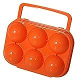 Sijueam Outdoor Tragbar Kunststoff 6 Eier Eierbox Eierdose Eieraufbewahrung Eierträge