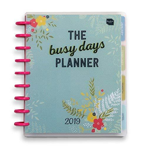 Agenda 2019 Busy Days Planner Boxclever Press. Planner ad anelli con pagine mensili e settimanali colorate, tasche, adesivi e altre utili funzioni extra. Include spazi per annotare pensieri e idee