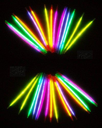 105 Knicklichter Leuchtsticks, Leuchtbrille, Leucht Haarreifen, Konnektoren