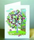 50 Geburtstag Laser Cut Karte 3D Geburtstagskarte Blumen Lebensbaum 16x11cm