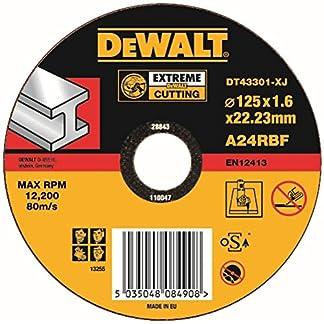 Dewalt DT 43301 Disco de corte de metal, 125 mm x 1.6 mm x 22.2 mm