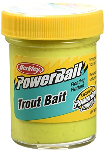 Berkley Powerbait Trout Bait Teig Köder für Forellen-50g, Uni, SunshineJaune, 50 g -