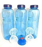 3 x Original Kavodrink Trinkflaschen aus TRITAN 100% ohne Weichmacher im Sparset: 3x0,5 Liter (rund) + 3 Standarddeckel + 2 Sportdeckel (FlipTop) + 1 Trinkdeckel (Push PULL) ohne Weichmacher ohne Schadstoffe BPA frei BPS frei Phtalath frei geruchsfrei und geschmacksneutral aus Österreich