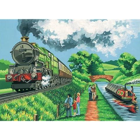 Reeves - Pintar por Números - Set de pintura grande, diseño de tren