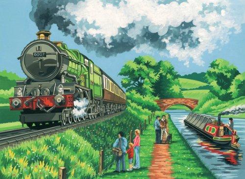 """Reeves - Set """"Dipingere con i numeri"""", multicolore, Eisenbahn"""