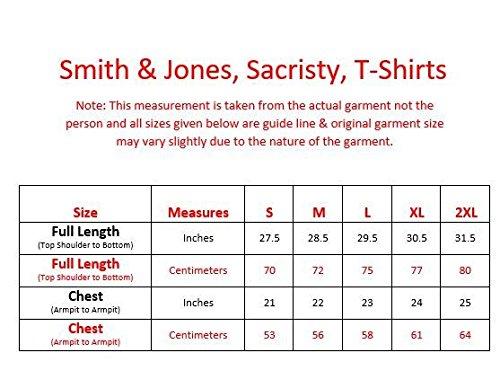 New Mens Smith und Jones Graffic Print Rundhals Designer Casual T-Shirt Top Lt Grey Marl