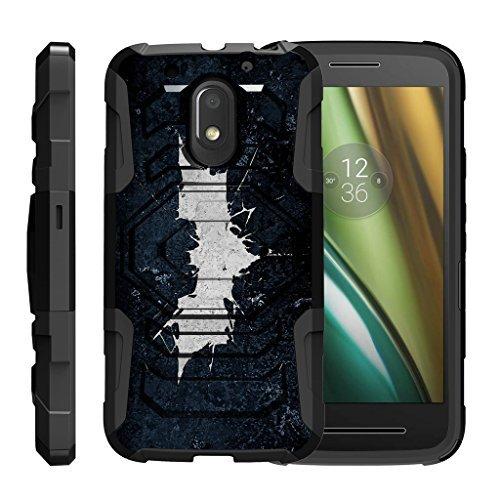 turtlearmor | Motorola Moto E3Fall | Moto E 3. Gen. Fall | Moto G4Play Schutzhülle [Octo Guard] Dual Layer Holster Schutzhülle Gürtelclip Stabile Ständer Cover -, Bat Signal (Phone Cricket Moto G)