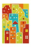 Arte Espina Kinderteppich Spirit Glowy, Houses, ca. 110x160 cm
