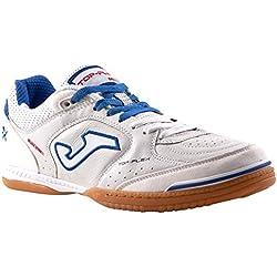 JOMA Top Flex, Zapatos de Futsal Unisex Adulto, Blanco (White-Black-Orange), 40 EU