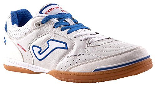 Joma Top Flex, Scarpe da Calcetto Unisex – Adulto, Bianco (White-Black-Orange), 41 EU