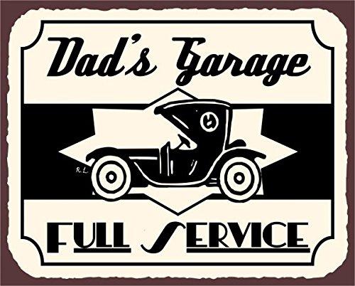 Dad ¡¯ s garaje servicio completo diseño antiguo coche Vintage Auto Retro Metal tin sign 12x 12pulgadas cuadradas Metal Signs Vintage
