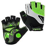 Eroilor Radfahren Handschuhe für Männer Frauen Half Finger Fahrradhandschuhe Atmungsaktive Anti-Rutsch-Handschuhe - Grün - L