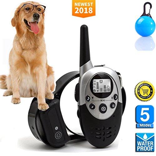 Lingyude Telecomando Pet Dog Training Collare, 600 Metri Ricaricabile e Impermeabile con Segnale Acustico/Vibrazione Collare