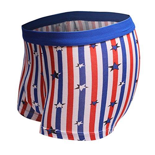 Dingbear Unterwäsche Herren von Pack 3 Trunk Shorts Modal elastische Taille atmungsaktiv Designer Boxershorts Trunks Comfort Fit XX-Large