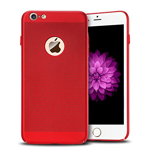 iPhone 6 plus Cover iPhone 6s plus Custodia PC Anfire Ultra Sottile Leggera Hard Case Caso Anti Scratch Rigida Plastica Copertura per Apple iPhone 6 plus / 6s plus (5.5 Pollici) Duro PC Opaco Antiurto Rosso