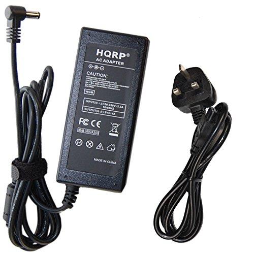 HQRP AC Adapter for Verifone Omni CPS10936-3E-R 3730, 3730LE, Vx510,  Vx510LE, Vx570, Vx610, 5750C, Vx810 DUET Terminal 9V DC 4A Power Supply  Cord