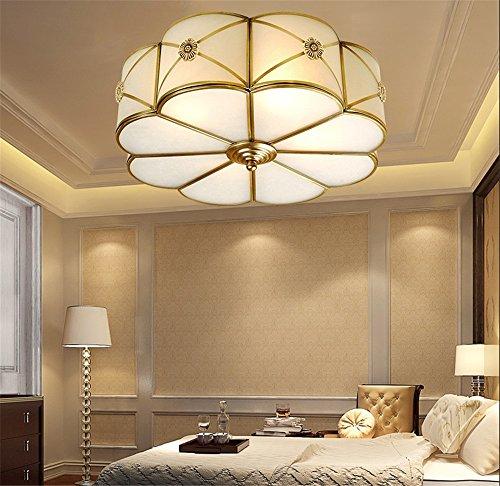 CHLIGHT E27 Moderne Luxus 4 Köpfe Messing Deckenleuchten Glas Lampenschirm Blume Geformt Deckenleuchte Schlafzimmer Wohnzimmer Hotel Restaurant Badezimmer Mall Korridor Cafe Pendelleuchten Home Decor Lampe