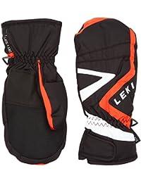 Leki Joven laax Junior Mitt–Guantes de esquí, niño, color negro, rojo y blanco, tamaño 7