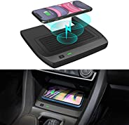 CarQiWireless Wireless Charger for Civic with Fast Charging Charger, 3 Coils QI Phone Wireless Charging Pad Ma