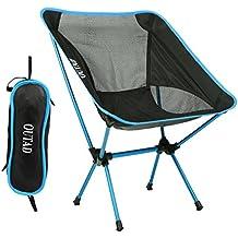 Silla de Camping Plegable con bolsa, plegable y portátil, carga hasta 150 KG, ideal para acambaca/senderismo/viaje/Caza/Pesca, azul