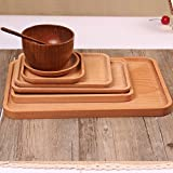 Wooden Plates Japanese Style Tray Wood Dishes For Sushi Dessert Snack Serving Tray Home Kitchen Dining Table Decoration Cutlery