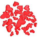Yimosecoxiang New 100Pcs Romantic Married Love Heart Sparkle Confetti Table Wedding Party Scatter - Blue 2.1 cm