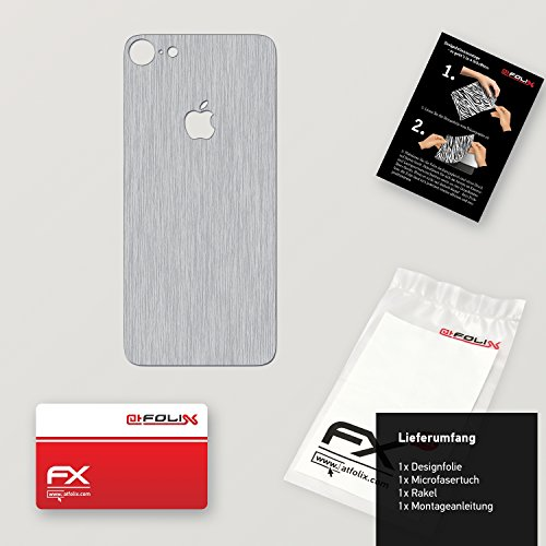 "Skin Apple iPhone 7 ""FX-Velvet-Black"" Designfolie Sticker FX-Brushed-Alu"