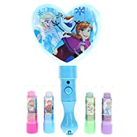 Townley Girl 4 Pack Lip Balm with Light Up Mirror(No Batteries Needed), 5 CT (Frozen)