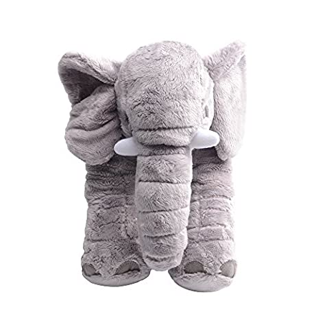 Befitery 40cm High-quality mini plush toys baby pillow headrest cushion elephant animal Plush toys sleeping Doll children Soft Toys with Long nose (Gray)