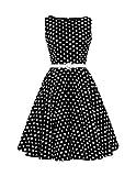 BlackButterfly 'Audrey' Vintage Polka-Dots Kleid im 50er-Jahre-Stil (Schwarz, EUR 52-5XL)