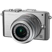 Olympus E-PM1 Compact System Camera - Silver (includes M.ZUIKO Digital 14 -42mm II R Lens)
